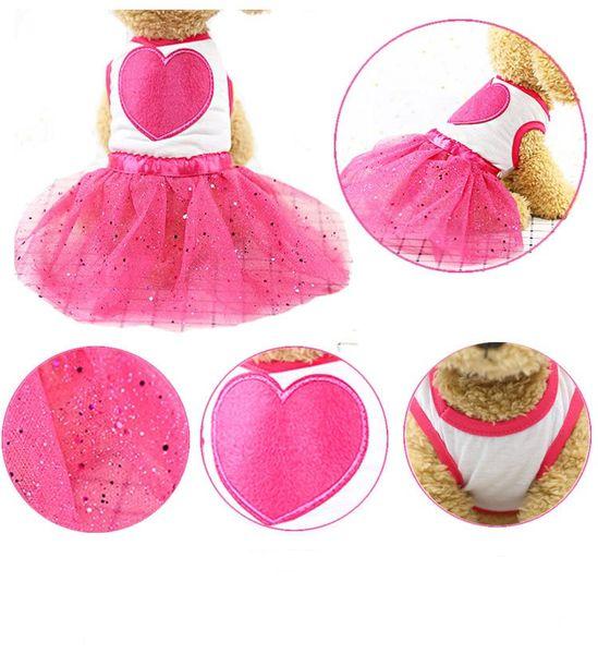 Vestidos de cachorros para perros Trajes Ropa para mascotas Ropa de moda Abrigos para perros Arneses para perritos Chihuahua rosada Mayorista de disfraces