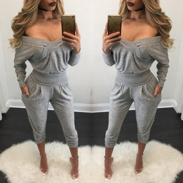 Sports one shirt casual wear women's trousers European and American women's sexy open back exercise two pieces New style