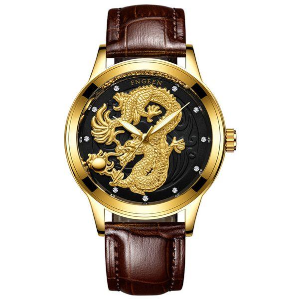 leather gold black