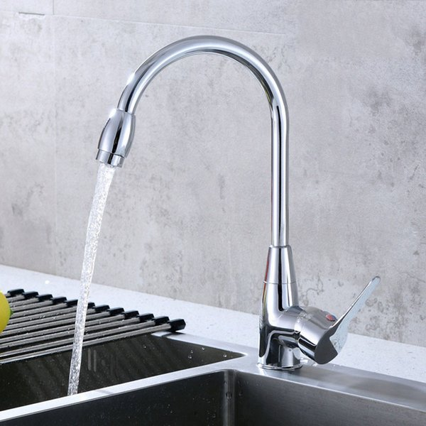 2019 Single Handle Polished Chrome Kitchen Sink Faucet Single Hole Swivel  Sprayer Sink Mixer Tap Faucet Parts From Ws720123, $25.13 | DHgate.Com