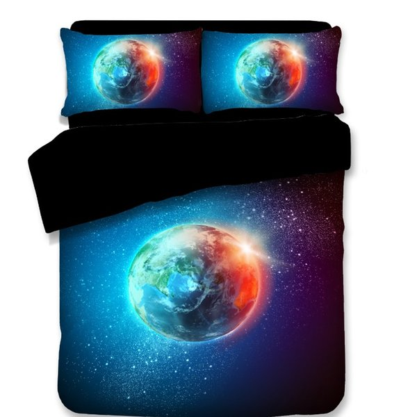 3D Bedding Sets Sci-Fi Pattern Duvet Covers New Style Stare Was Pillow Case Retriever Polyester Reactive Printing Twin Full Queen King Size