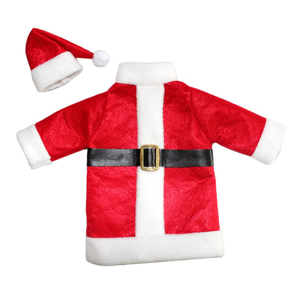 New year Wine Bottle Cover Bags Decoration Home Party Santa Claus Clothes Hat christmas gift red wine bottle bags decorations