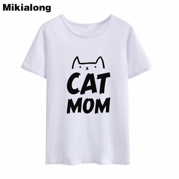 9328e45b ... T-Shirt ;. Women's Tee Mrs Win Cat Mom 2018 Cute Funny Graphic Tees  Women Sweet Korean Style Harajuku