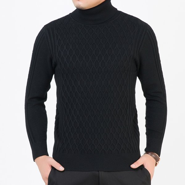 2018 New Fashion Brand Sweaters Men Pullovers Turtleneck Slim Fit Jumpers Knit Thick Warm Autumn Korean Style Casual Men Clothes