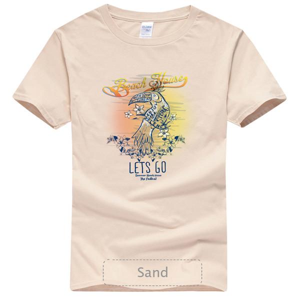 Пляж Hquyg Футболки, Летняя Мода Футболки, Хлопок O-Образным Вырезом Рубашки