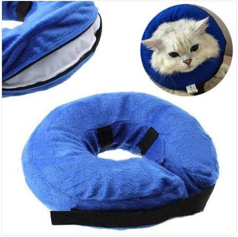 Free shipping Wholesales Inflatable Pet Collar Dog Cat Wound Healing Protection Anti Bite Safety Collar