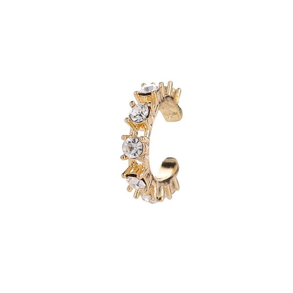 Simple U shaped earrings, drill holes, ear clip, ear buttons, earrings.
