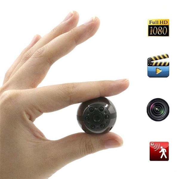 E-EDC HD Portable Camera Mini Surveillance Camera with Motion Detect and Infrared Night Vision 12 MP for Indoor Outdoor