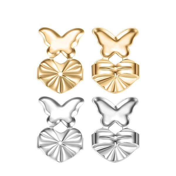 Magic Earring Backs Support Earring Lifts Fits Earrings For Women Set Silver /Gold Color Earrings Jewelry Accessories