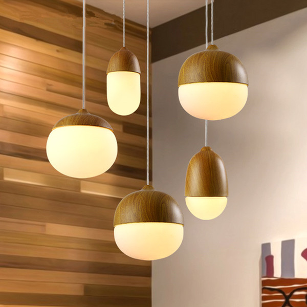 Nordic Nuts Pendant Lights Round Glass Ball Lampshade Pendant Lamps Kitchen Hanging Lamp Light fixture luminarias Art Deco Light