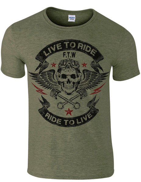Details zu BIKER MOTORBIKE BORN TO RIDE T SHIRT CAFE RACER CLASSIC BIKER FOREVER TWO WHEELS Funny free shipping Unisex Casual gift