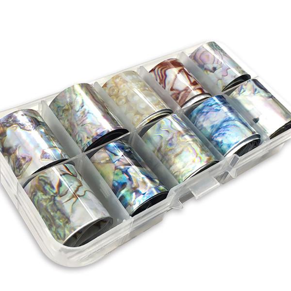 1 Caja de Concha de Uñas de Vacaciones de Diseño de Baliza de Nail Transferencia de Manicura Pegatinas de Manicura Art Decorations