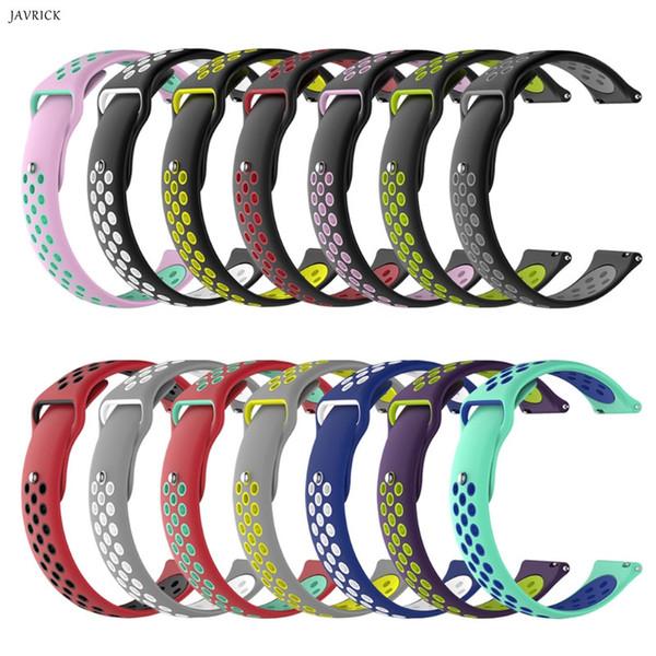23 cm Yumuşak Silikon Spor Bilek Watch Band Kayışı Amazfit Bip Dişli S2 Klasik Vivoactive için 3 / İK Nokia 40mm