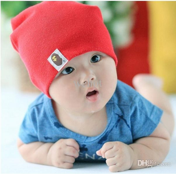 Wholesale-10 pcs/ Lot Cotton Infant Hat Skull Cap For 1-3 Years Toddler Infant Baby Boys & Girls Gift Wholesale 24 Colors choose TS0010