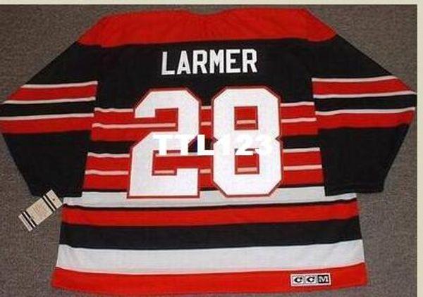 Мужские #28 Стив Лармер Чикаго Блэкхокс 1992 CCM старинные ретро хоккей Джерси или обычай любое имя или номер ретро Джерси