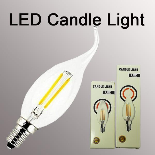 Lampadina LED a candela Luxbird Vintage Candle LED Lampadina a filamento chiaro B11 e12 3,5W Bianco caldo Bianco freddo