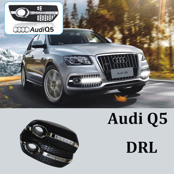 1 paio Car-styling DRL ABS Paraurti anteriore Luce corrente di giorno la luce di nebbia Covers maschere lampada misura per Audi Q5 09-13