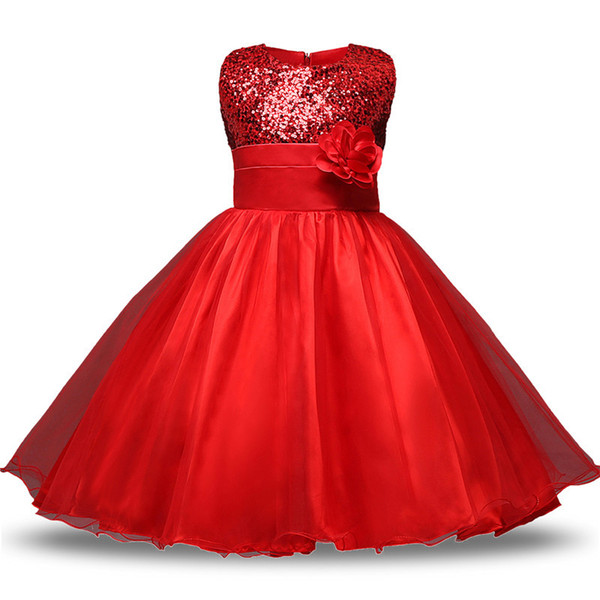2019 Teen Girl Clothes Christmas Tutu Flower Kids Dresses For Girls Wedding  Baby Girls Kids Ceremonies Party Costumes Age 11 12 Years Y1891309 From