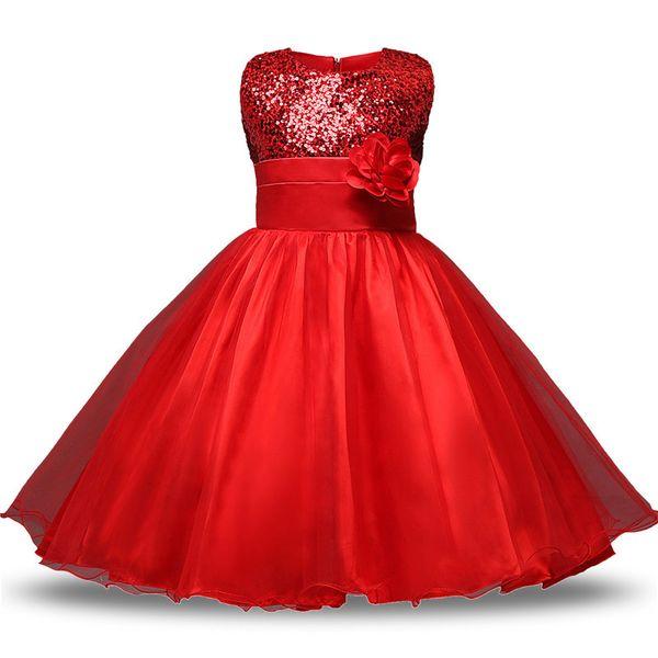 Teen Girl Clothes Natale Tutu Fiore Abiti per bambini Per le ragazze da sposa Neonate Cerimonie per bambini Costumi per feste Età 11 12 anni Y1891309