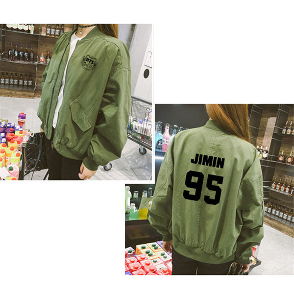 Kpop BTS Love Yourself Bangtan Coat Baseball Uniform J-Hope Jung Varsity Jacket