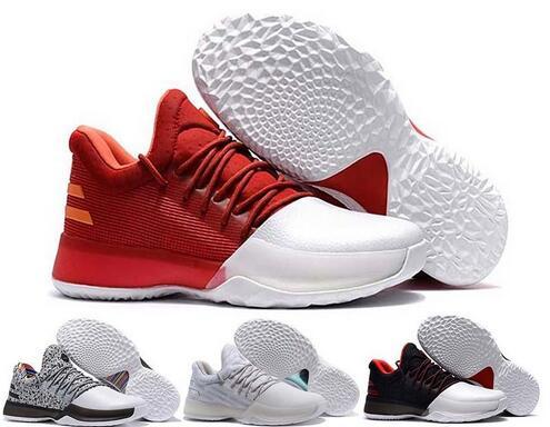 Acheter New Harden Vol. 1 Hommes Chaussures De Basket James Harden Vol. 1 Accueil BW0547 JH13 Rocket Rouge Blanc GS Boost Chaussures Sneakers Taille