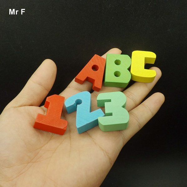 Fun Wooden ABC Alphabet Block Learning English Toys Kids Children Puzzles Early Education Game Intelligence Gadget