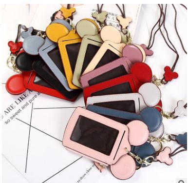 De dibujos animados Carta del oído Cordón Cuello Correa Titular de la tarjeta Nombre Tarjeta de crédito Bolsa Monedero Papelería Titulares de tarjeta de crédito TO930