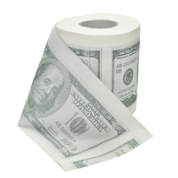 1Hundred Dollar Bill Printed Toilet Paper America US Dollars Tissue Novelty Funny $100 TP 10pcs/lot