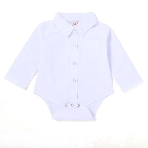 Mikrdoo Baby Boy Girl Romper Clothes Long Sleeve Turn-down Collar Blouse Romper Toddler Fashion Cute Jumpsuit for 0-24M