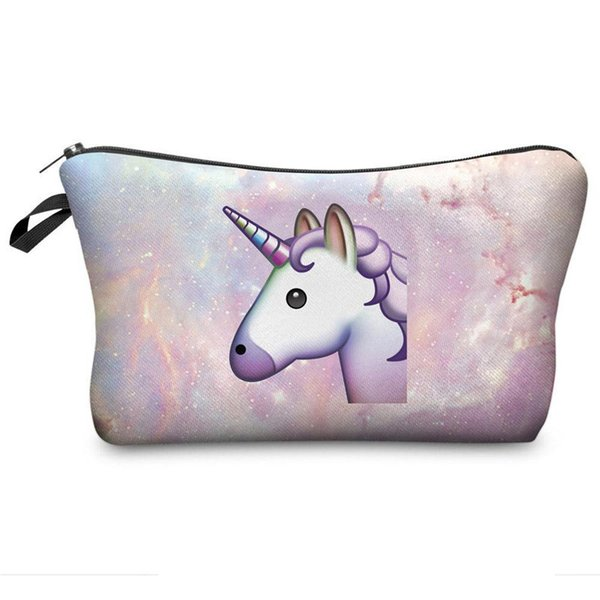 2018 New Creative Stationery 3D Unicorn Pencil Case Novelty Item Pencil Bag Fashion Multipurpose Storage Bag For Girl Kids Gift