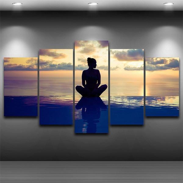 MNSud - Maitre Nageur Sauveteur ,5 Pieces The Latest Most Popular High-definition Canvas Printed Home Decorative Art/ Unframed / Framed