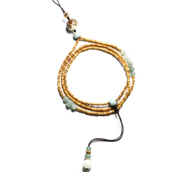 Olive core small bamboo festival creative mobile phone hanging rope men and women's long style mobile phone shell necklace rope mobile phone