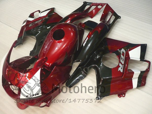 Motocycle fairings Red Black for HONDA CBR600 F2 91 92 93 94 CBR600F2 1991 1992 1993 1994 CBR 600 custom fairings set M789