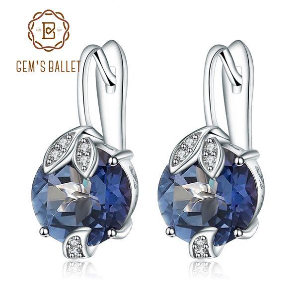 Gem's Ballet 925 Sterling Silver Fine Jewelry Mystic Quartz Iolite Blue Gemstone Gorgeous Drop Earrings Fine Jewelry For Women S18101206
