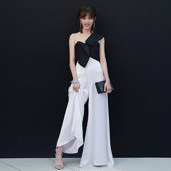 Rompers High Quality Runway 2018 Spring Summer New Fashion Women Party Elegant Vintage Sexy Loose Trousers Sleeveless Jumpsuits