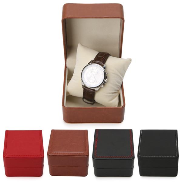 JAVRICK Luxo Faux Leather Watch Box Bracelet Bangle Pillow Cushion Display Case Holder