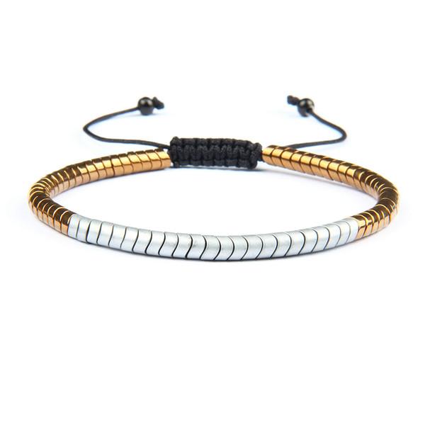 Luxury Men Bracelet 4mm Matte Hematite Snake Macrame Bracelets Wholesale 10pcs/lot Hot Sale Jewelry For Cool Men