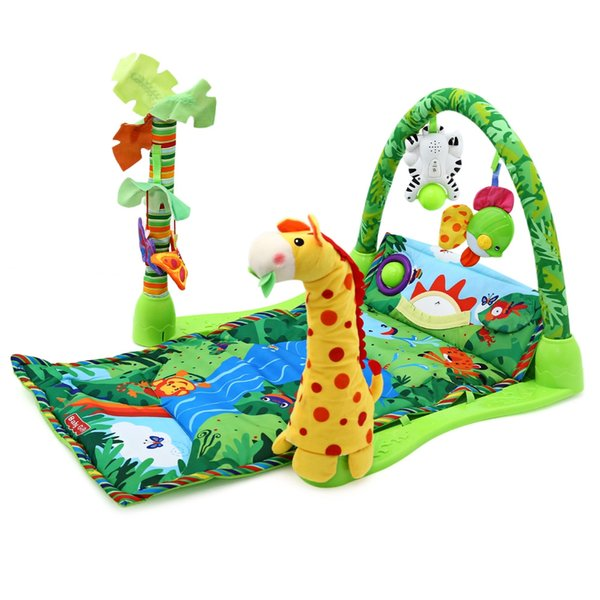 Kids Play Game Mats Rainforest Music Baby Soft Play Mat Activity Playmat Toy Crawling Blanket Floor Carpet Rugs Mat For Baby