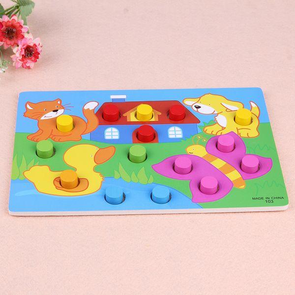 Montessori Holz Puzzle Tangram Puzzle Cartoon Holzspielzeug Kinder Spiel Frühe Lernspielzeug für Kinder Weihnachtsgeschenk