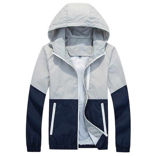Titmsny New Fashion Spring and Autumn Thin Windbreaker Zipper Coats Outwear High Quality Jacket Coats Men Causal Hooded Jacket