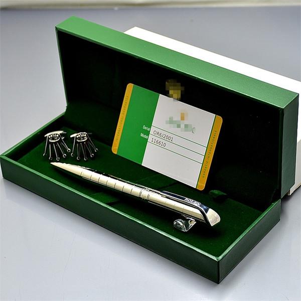 Venda quente - Luxury RLX Marcas Homem camisa Abotoaduras + esferográfica caneta com caixa original para o aniversário Homem ou do Natal ligações jóias manguito