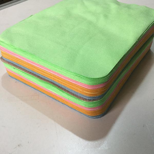 En gros 100 pcs 18 cm * 15 cm Haute qualité Lunettes Tissu velours épais doux Lentille Tissu non fade nettoyage vêtements, bijoux chiffon de nettoyage
