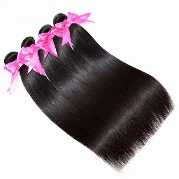Peruvian Straight Extension Human Hair 100% Remy 4 Bundles Hair Weaves Nature Color Hair Bundles Free Shipping