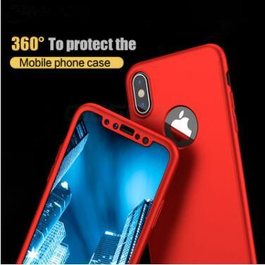 360 Ultra-thin Full Body Coverage hard PC Cell Phone Case Back Cover Tempered Glass Screen Protector For Iphone XS MAX XR X 7 8 6 plus