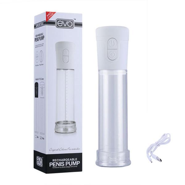 Productos para adultos Bomba de Pene de Vacío Eléctrica Apta para Aumentar Ampliación Extender Enhancer Male Masturbator Juguetes Sexuales para Hombres
