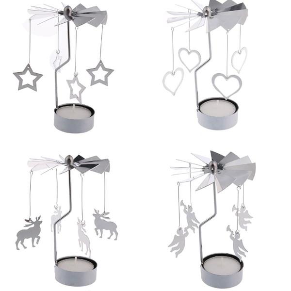 1 STÜCK Romantische Kerzenhalter Rotierenden Tür Windmühle Rotation Kerzenhalter Kerzenhalter Kerze Teelicht Halter Großhandel