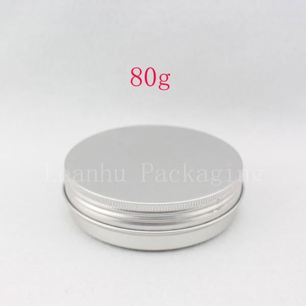 80g empty aluminum jar with screw cap ,skin care cream aluminum metal container for cream ointment hand cream solid perfume