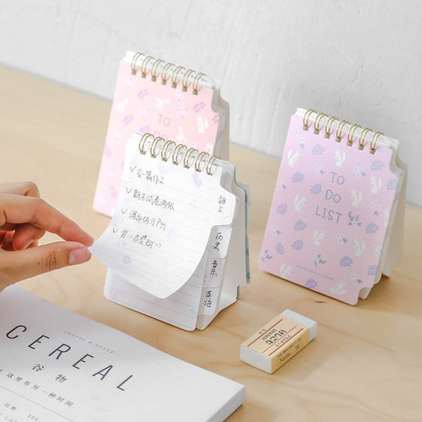 12 pcs/Lot Standing todo list memo Spiral notepad Mini notschedule planner agenda Stationery office School supplies A6736