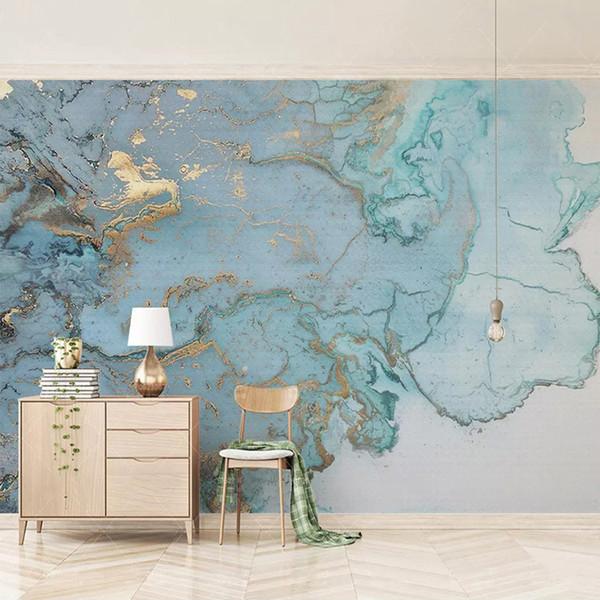 Arkadi Custom Photo Wallpapers 3D Stereo Blue Texture Marble Wall Paper Murals Living Room TV Sofa Bedroom Study Decor Papel De Parede
