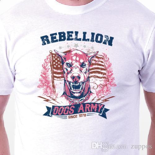 """Rebellion Dogs Army"" T-shirt: retro vintage tattoo BIRTHDAY PRESENT GIFT IDEA"